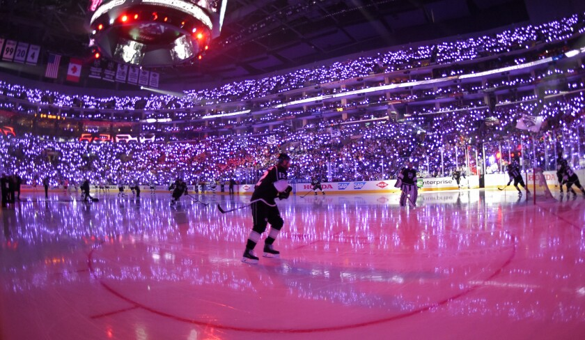 Purple for Prince: L.A. Kings