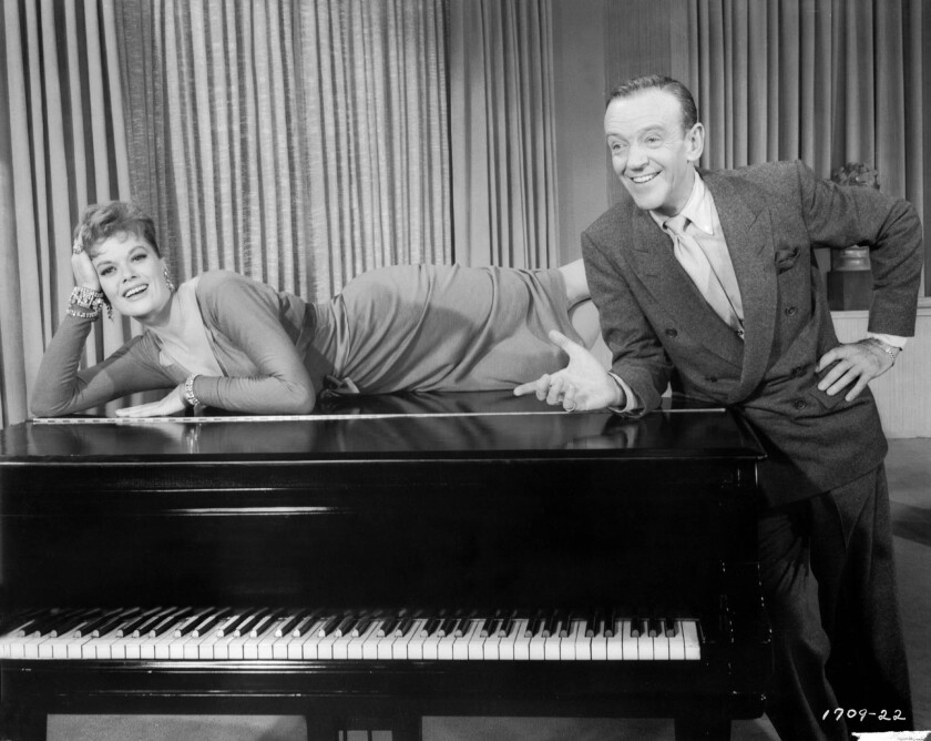 """Janis Paige and Fred Astaire in """"Silk Stockings"""" (1957)."""