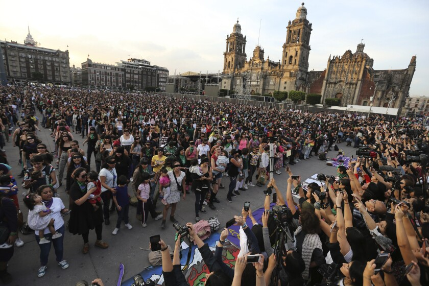 Feminist activists protest in Mexico City in November