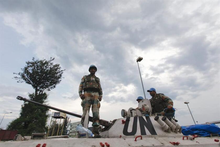 """La ONU dijo hoy que ha recibido acusaciones de abusos sexuales contra varios """"cascos azules"""" surafricanos desplegados en la República Democrática del Congo (RDC). EFE/EPA/Archivo"""