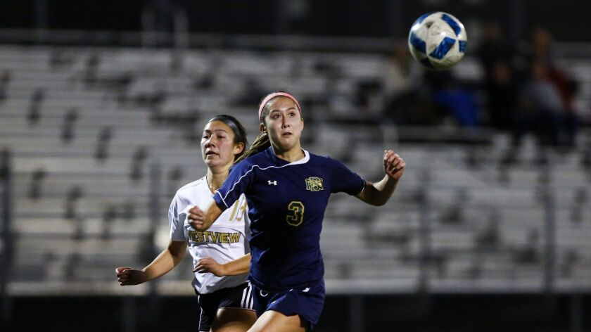 Del Norte senior Megan Donovan, who leads the Nighthawks with six goals this season, plans to major in nursing at McNeese State in Lake Charles, La.