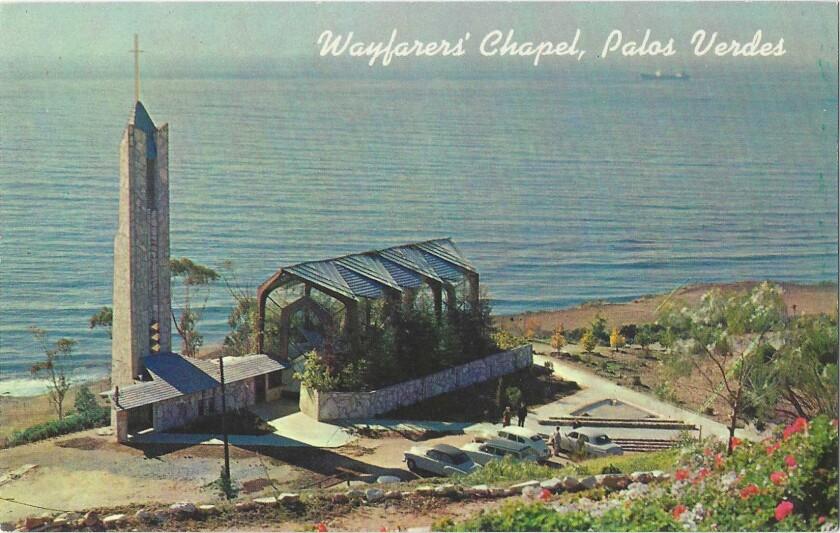 Vintage postcards for Patt Morrison column on L.A. church architecture