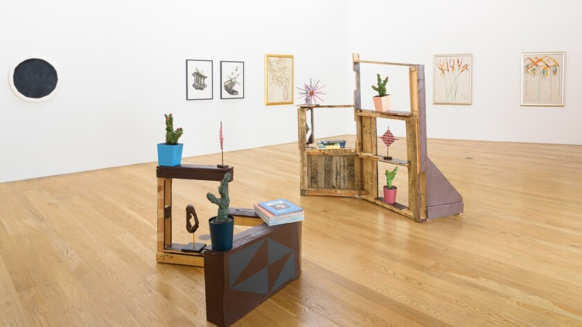 """Paintings, prints, sculptures and mixed-media works by four artists are in the group show """"How to Build a Foghorn."""""""