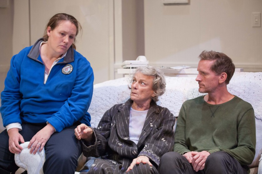 """Tracie Lockwood, Anne Gee Byrd and Ned Mochel in Samuel D. Hunter's """"A Permanent Image"""" at Rogue Machine Theatre"""