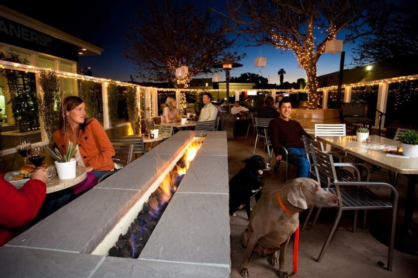 Every neighborhood should have a patio gathering spot like the one at The Wine Pub.