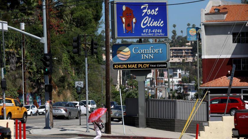 LOS ANGELES, CALIF. -- MONDAY, JULY 1, 2019: Sunset Foot Clinic in Los Angeles, Calif., on July 1, 2