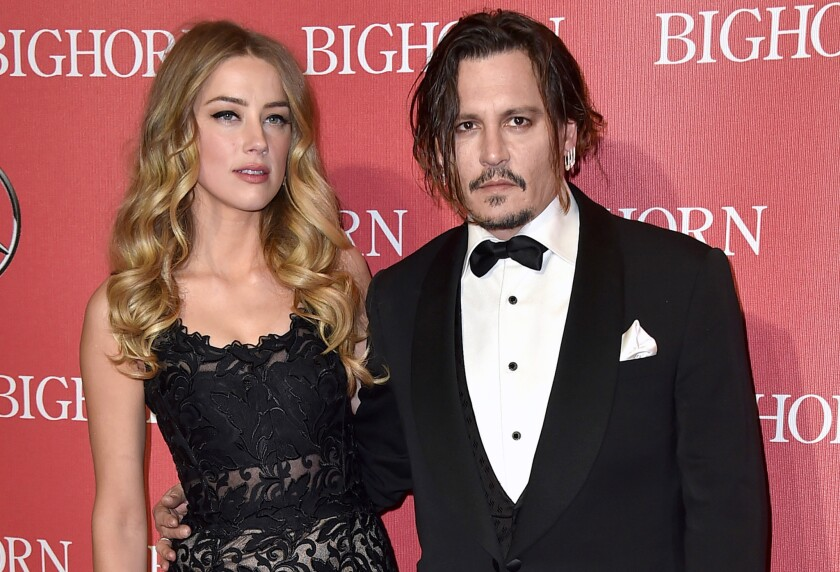 Amber Heard and Johnny Depp attend the Palm Springs International Film Festival Awards Gala this year.