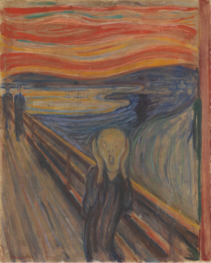 """The Scream"" painting by Edvard Munch"