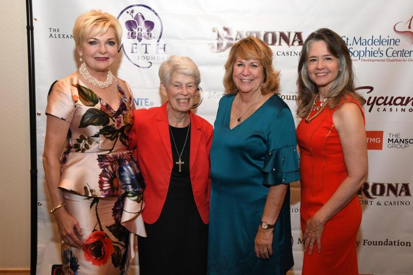 Joye Blount (honorary chair), Sr. Virginia Rodee (honoree), Debra Emerson (SMSC CEO), De Anna Dougherty (host chair—for fifth consecutive year)