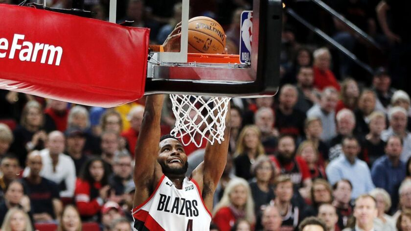 Forward Maurice Harkless was a starter last season for the Portland Trail Blazers, who made it to the Western Conference finals.