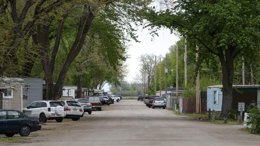 Grand Island's Capital Trailer Park, where many immigrants make their homes.