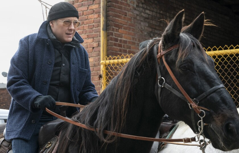"James Spader in a new episode of ""The Blacklist"" on NBC."