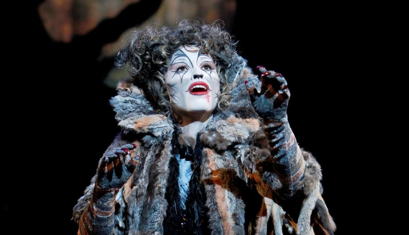 """Grizabella is a pivotal kitty in """"Cats,"""" whose latest touring version is now playing at the Civic Theatre."""