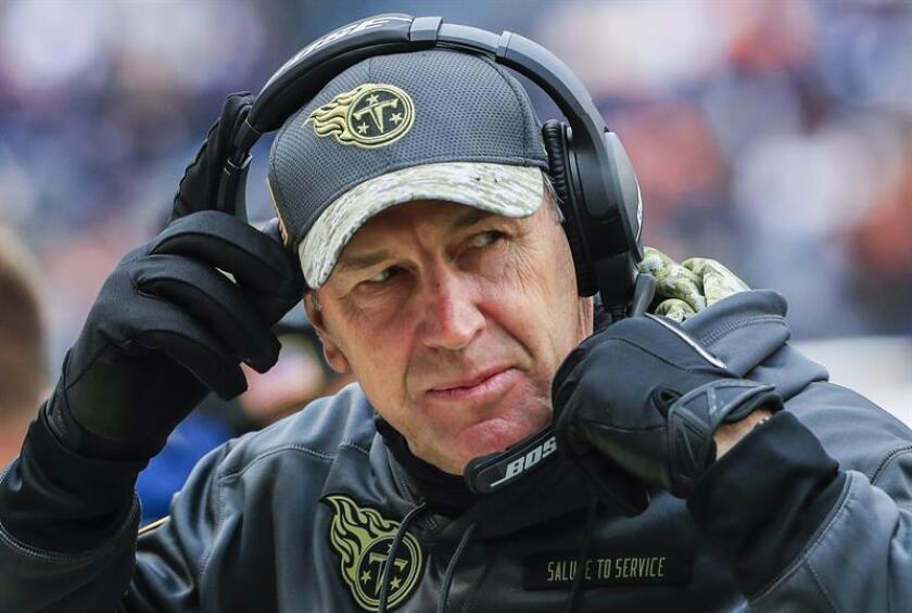 En la imagen, Mike Mularkey, entrenador en jefe de los Titans de Tennessee. EFE/Archivo