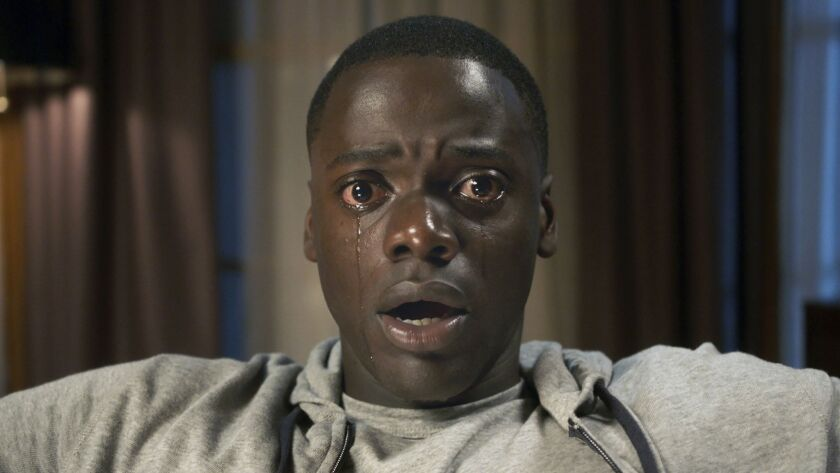 """This image released by Universal Pictures shows Daniel Kaluuya in a scene from, """"Get Out."""" """"Star War"""