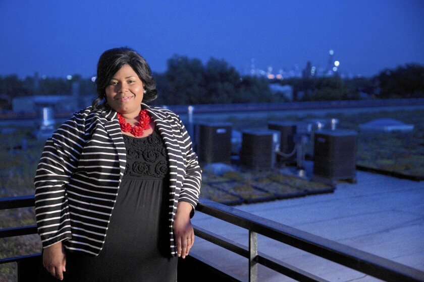 Christina Marshall dreams of launching a clothing company for full-figured women.