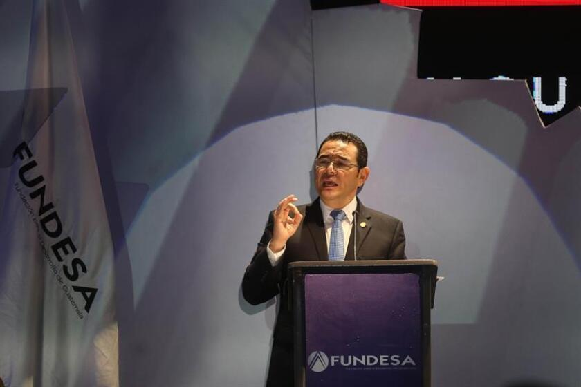 El presidente de Guatemala, Jimmy Morales. EFE/Archivo