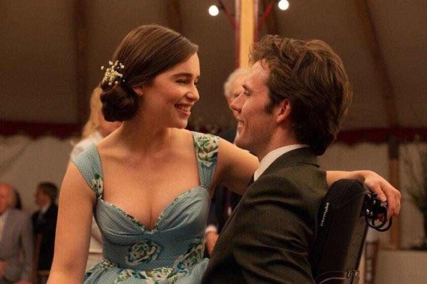 "Emilia Clarke and Sam Claflin in a scene from ""Me Before You."""
