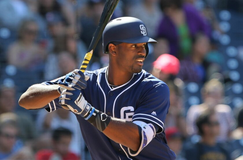 Rule-5 outfielder Jabari Blash was named to the Padres' Opening Day roster on Saturday. He finished spring training with four homers, 23 strikeouts and a .189 batting average in 29 games.