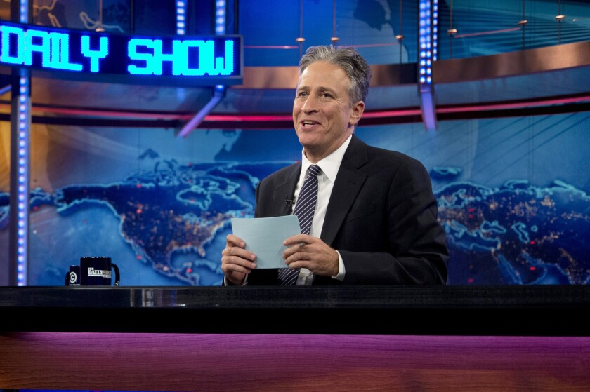 """Jon Stewart is back to hosting """"The Daily Show."""""""