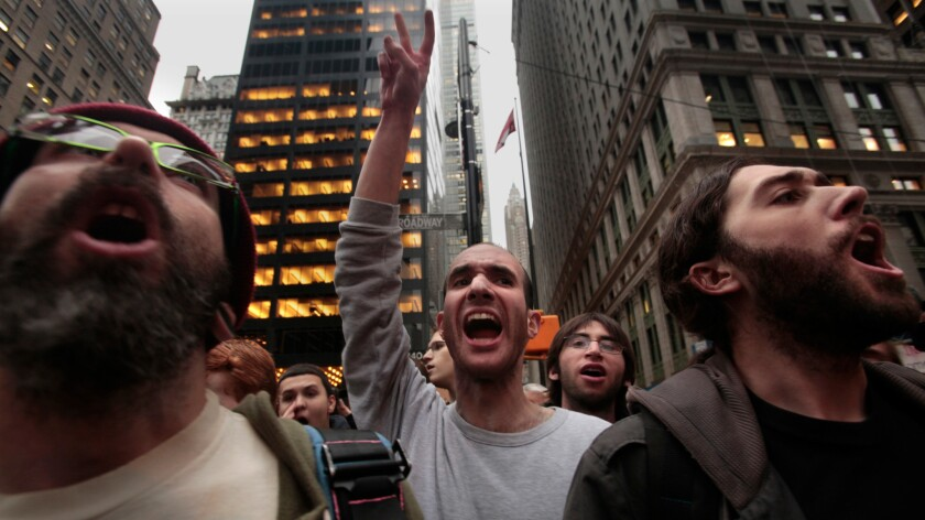 Occupy Wall Street demonstration in New York