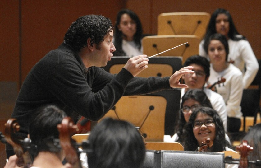 Gustavo Dudamel and Youth Orchestra L.A.'s Super Bowl halftime show will be a win for the arts
