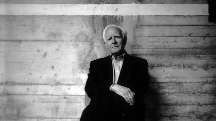 John le Carré sits for a portrait.