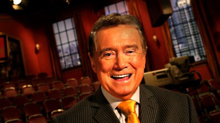 Longtime TV host Regis Philbin.