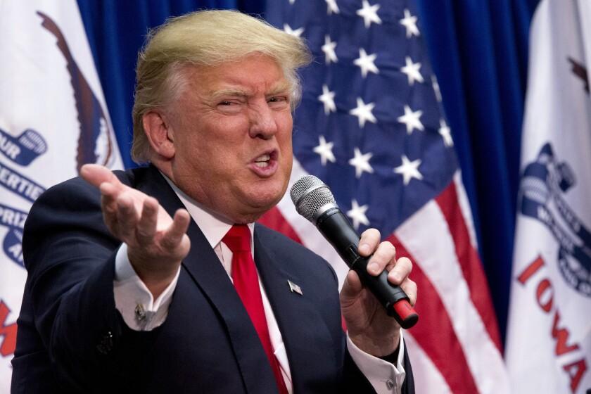 El precandidato presidencial republicano, Donald Trump.