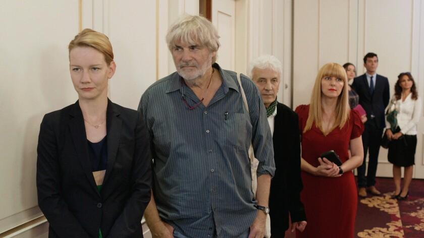 "Sandra Hüller as Ines Conradi and Peter Simonischek as Winfried Conradi/Toni Erdmann in ""Toni Erdmann."""