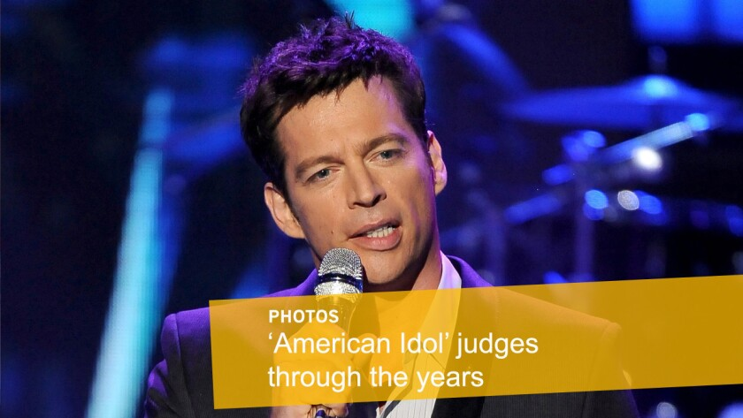 """Singer Harry Connick Jr., who acted as a mentor for the top 5 finalists in 2010, joined the judging panel of """"American Idol"""" in 2014. Connick, along with Jennifer Lopez and Keith Urban, will make up the panel on Season 15 of """"American Idol."""""""