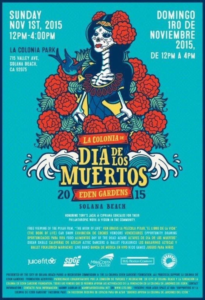 The city's inaugural Dia de los Muertos celebration is slated for Nov. 1 at La Colonia Park.