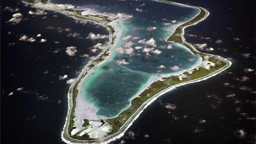 131122-N-ZZ999-001 DIEGO GARCIA (Nov. 22, 2013) An aerial view of Diego Garcia, the small installati