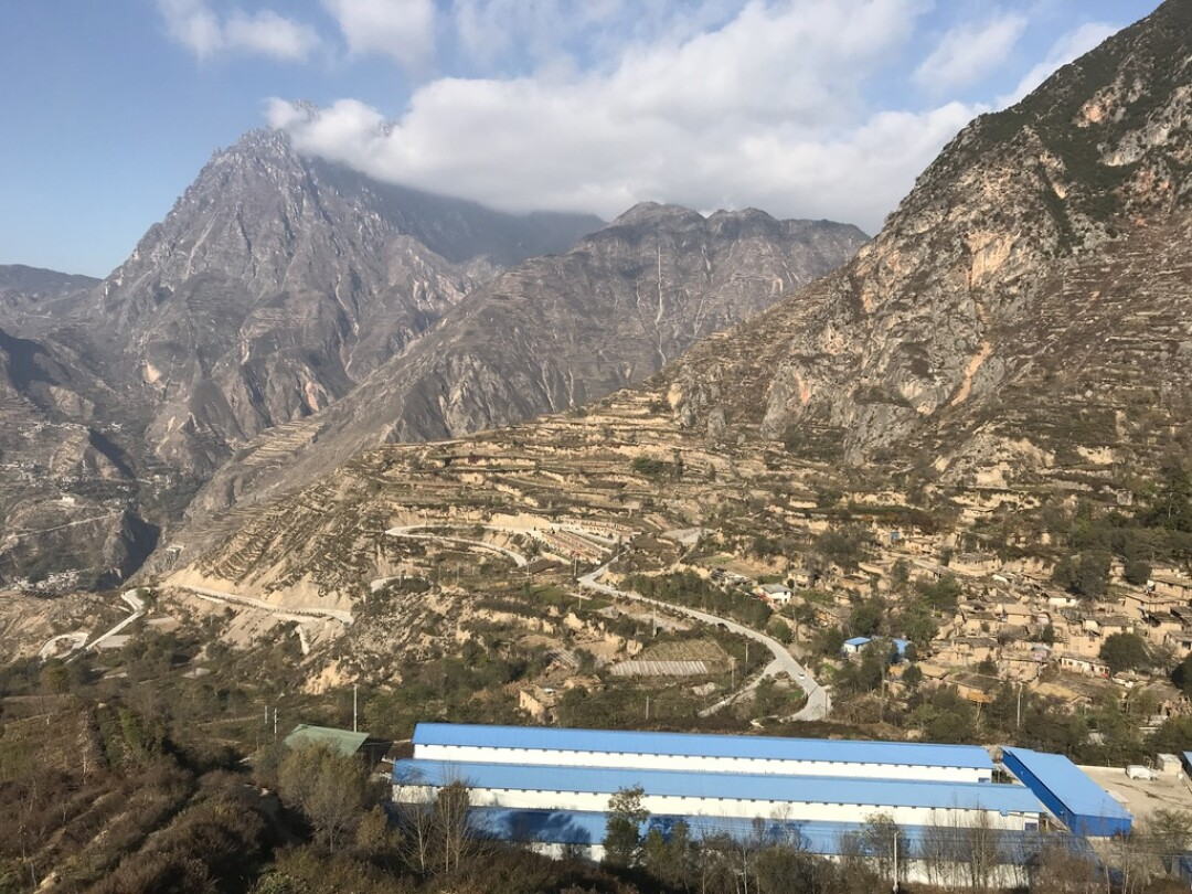 Residents of mountainside villages in China's Gansu province have been relocated to newly built apartments.