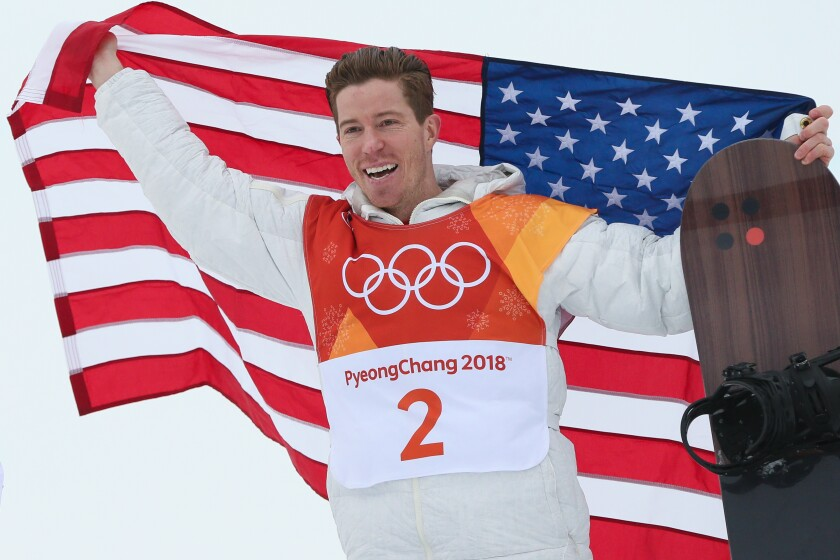 Shaun White wins the snowboard halfpipe at the 2018 Winter Olympics in South Korea.