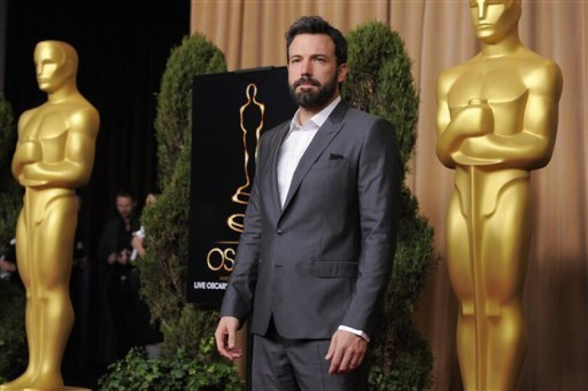"""Ben Affleck, nominated for best picture for """"Argo,"""" arrives at the 85th Academy Awards Nominees Luncheon at the Beverly Hilton Hotel on Monday, Feb. 4, 2013, in Beverly Hills, Calif. (Photo by Chris Pizzello/Invision/AP)"""
