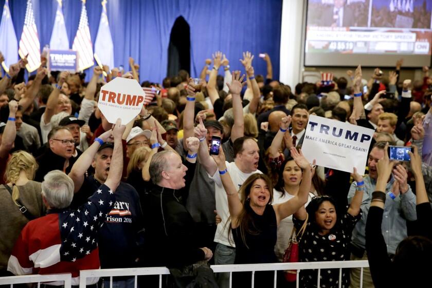 Trump supporters in Las Vegas.