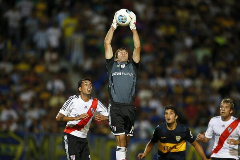 Marcelo Barovero, exguardameta de River Plate de Argentina. EFE/Archivo