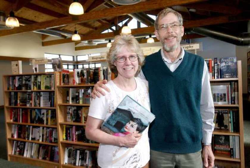 Flintridge Bookstore owners Peter and Lenora Wannier at their new building on Foothill Blvd. at Chevy Chase Drive, which opens Feb. 7..