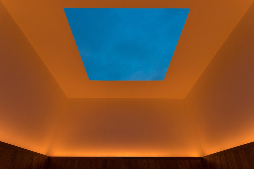 "This James Turrell piece will be discussed as part of the Athenaeum's Nov. 17 lecture, ""Light, Space and Insights."""
