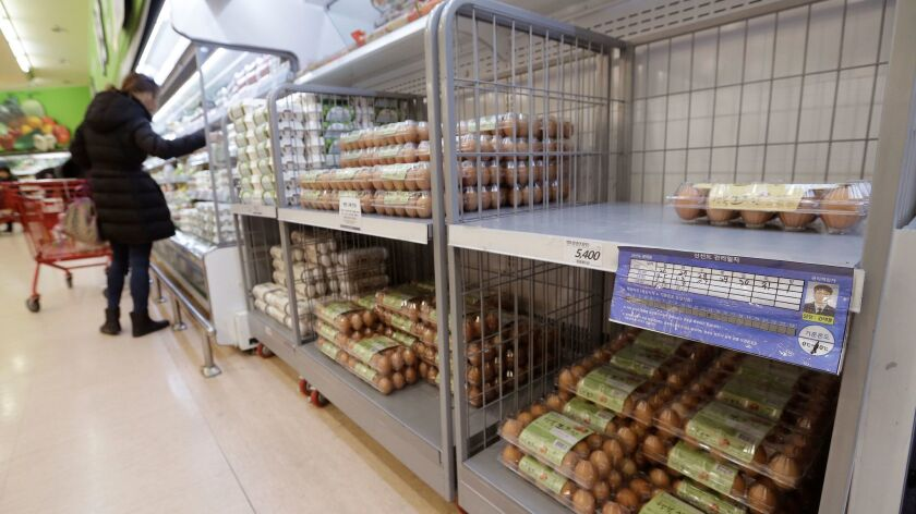 South Korea's egg consumers have noticed shortages, which have driven up prices by as much as 50% on average since December.