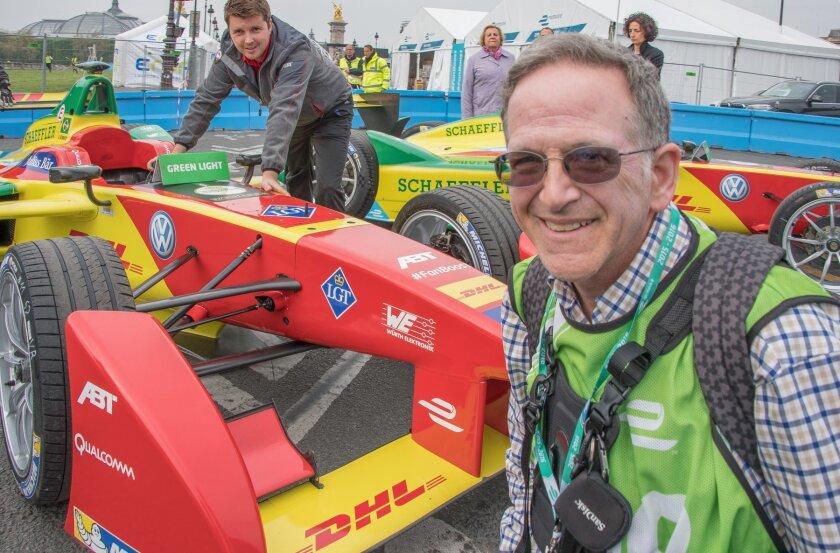 Jan with the ABT Schaeffler Audi Sport Formula E team cars