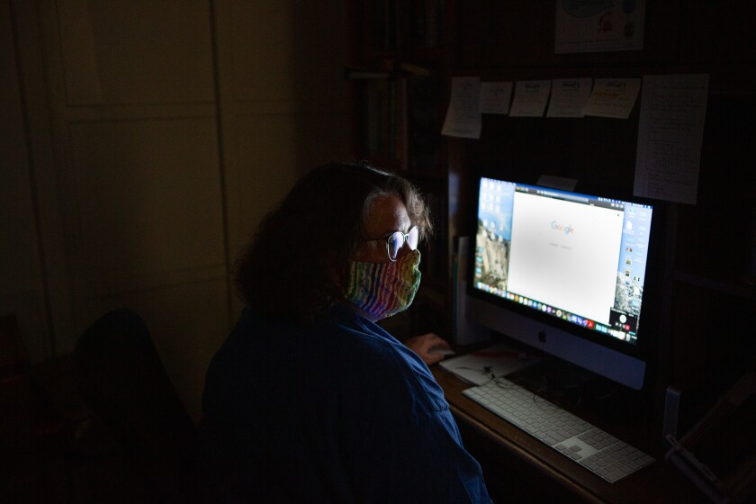Denice Nossett, a senior librarian, volunteered to be a coronavirus contact tracing team leader.