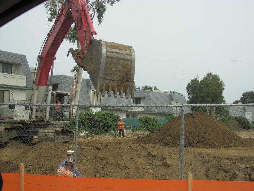 Excavation begins.