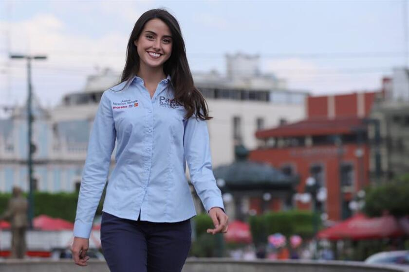 Fotografía del 5 de junio de 2018, de la candidata a alcaldesa, Paola González, en Guadalajara, estado de Jalisco (México). EFE