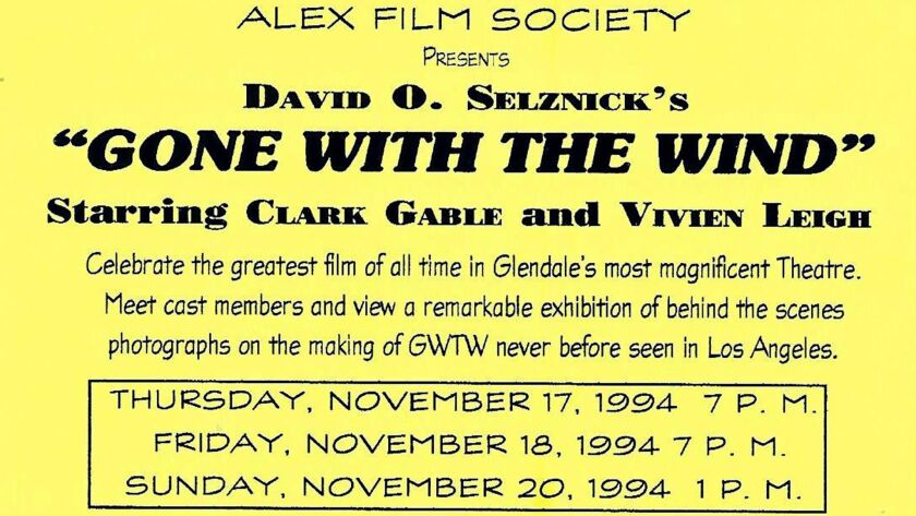 The initial invitation to the first Alex Film Society event was a postcard alerting the community to