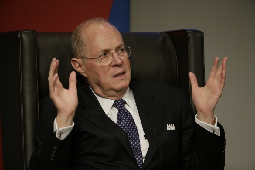 Supreme Court Justice Anthony M. Kennedy, shown in 2013, wrote the high court's ruling limiting the powers of state licensing boards.