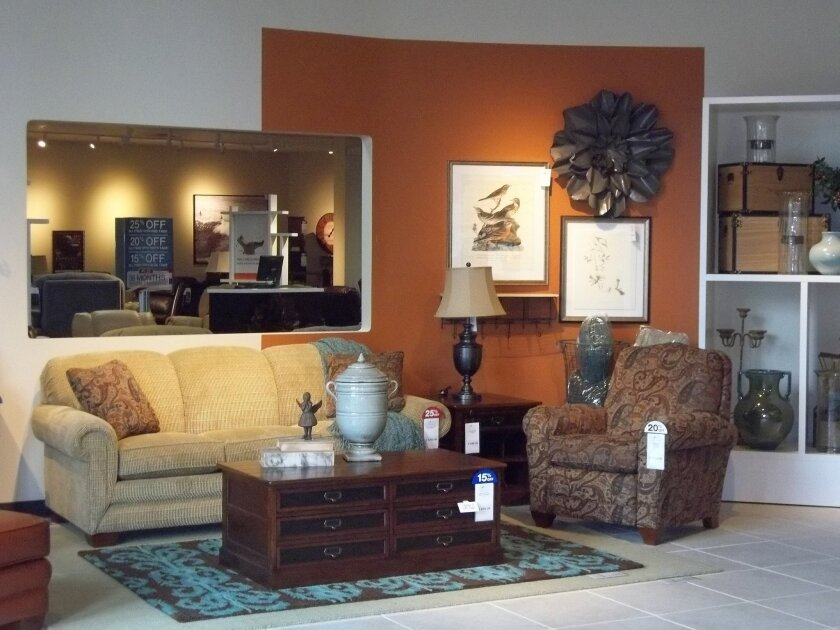 The La-Z-Boy showroom in La Mesa features vignettes as decorating inspiration. The store's grand opening is Saturday, Sept. 1, 2012.