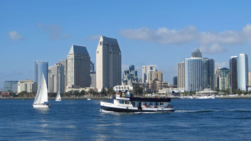 The ferry makes its approach to Coronado. Credit: Irene Lechowitzky