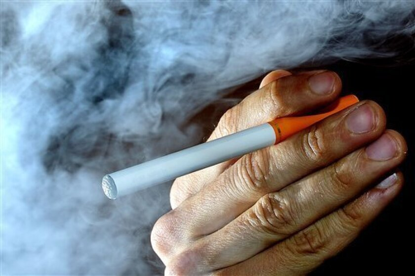 E-cigarettes are battery-operated products that turn nicotine into a vapor that is inhaled by the user.